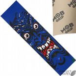 "SANTA CRUZ MOB ""Face"" Skateboard Griptape 9""x33"" BLUE Jim Phillips Rob Roskopp"